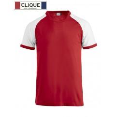 Clique® T-Shirt Raglan-T Rouge et Blanc 29326