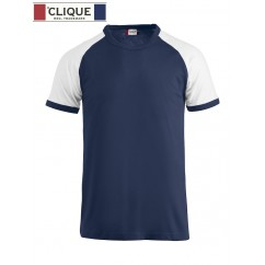 Clique® T-Shirt Raglan-T Bleu Marine et Blanc 29326