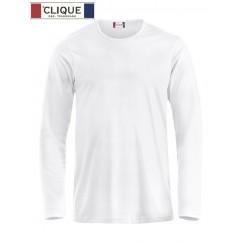 Clique® T-Shirt Fashion-T L/S Blanc 29329
