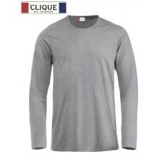 Clique® T-Shirt Fashion-T L/S Gris Chiné 29329