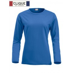 Clique® T-Shirt Fashion-T L/S Ladies Bleu Royal 29330