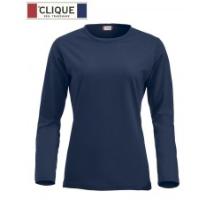 Clique® T-Shirt Fashion-T L/S Ladies Bleu Marine 29330