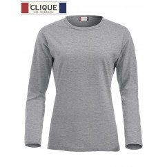 Clique® T-Shirt Fashion-T L/S Ladies Gris Chiné 29330