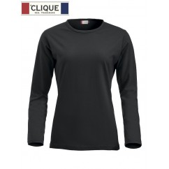Clique® T-Shirt Fashion-T L/S Ladies Noir 29330