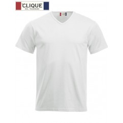 Clique® T-Shirt Fashion-T V-Neck Blanc 29331