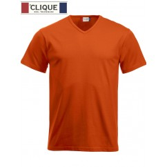 Clique® T-Shirt Fashion-T V-Neck Orange Fluo 29331
