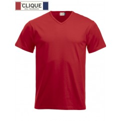 Clique® T-Shirt Fashion-T V-Neck Rouge 29331