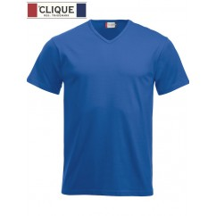 Clique® T-Shirt Fashion-T V-Neck Bleu Royal 29331