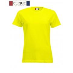 Clique® T-Shirt New Classic-T Ladies Jaune HV 29361