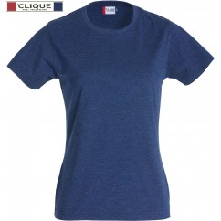 Clique® T-Shirt New Classic-T Ladies Bleu Mélangé 29361