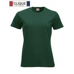 Clique® T-Shirt New Classic-T Ladies Vert Bouteille 29361