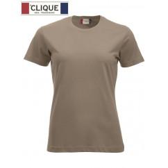 Clique® T-Shirt New Classic-T Ladies Brun Café au Lait 29361