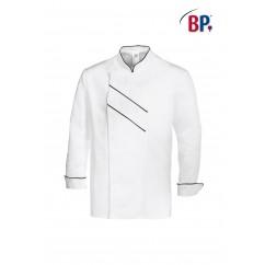 BP® Veste cuisinier blanche et noire 1538.400.2132