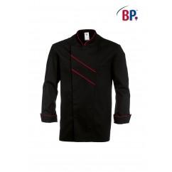 BP® Veste cuisinier Noire et Rouge 1538.400.3281