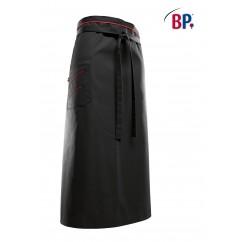 "BP® Tablier ""Bistro"" Long Noir / Rouge 1976.400.3281"