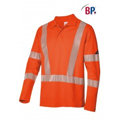 BP® Polo Manches Longues Orange Haute-Visibilité 2133.260.85