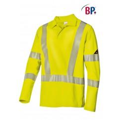 BP® Polo Manches Longues Jaune Haute-Visibilité 2133.260.86